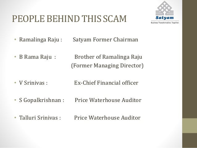 satyam case study management issues The satyam scandal marks as one of india management issues in the satyam case study from reviewing the case, the management issues in the case study are unethical.