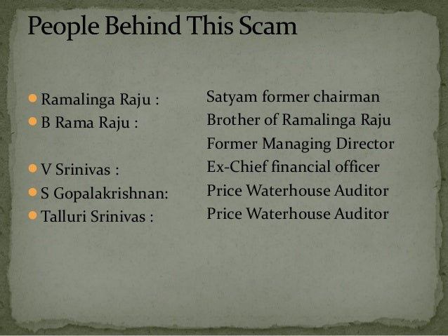 case study satyam fiasco Third in the satyam computers' corporate governance fiasco case study series, this case study captures the events that occurred between january 7th 2009 and january.