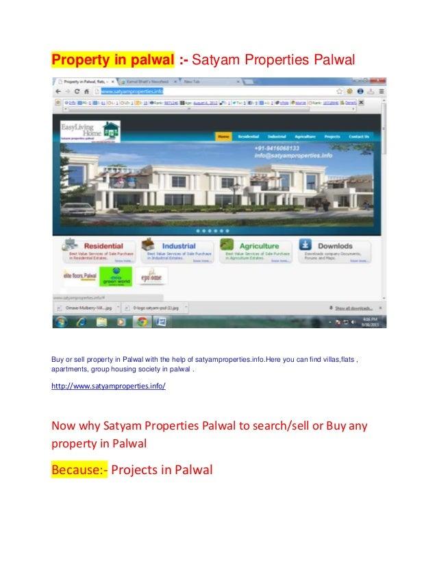Property in Palwal - Satyam properties palwal