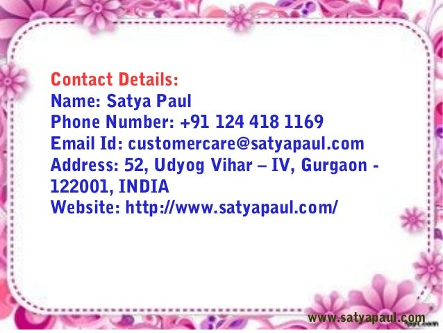Details Name Satya Paul