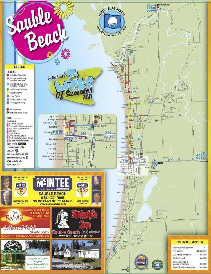 Sauble Beach 2011 Map
