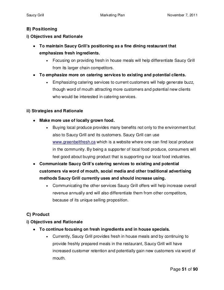 Bbq restaurant business plan