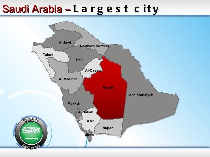 Saudi Arabia Map With Major Cities Saudi Arabia – Largest City al