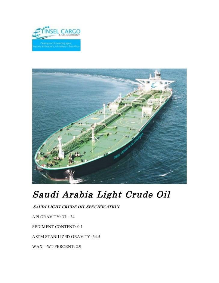 Saudi arabia light crude oil