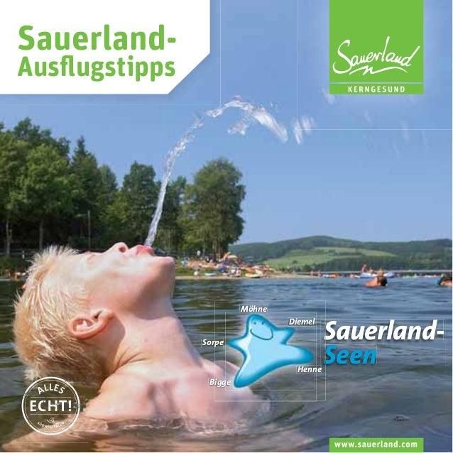 SauerlandAusflugstipps  Möhne Diemel Sorpe Henne Bigge  S SauerlandS Seen