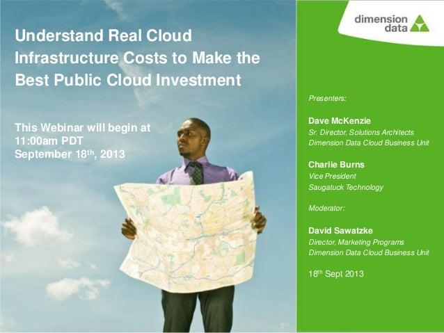 Presenters: Dave McKenzie Sr. Director, Solutions Architects Dimension Data Cloud Business Unit Charlie Burns Vice Preside...