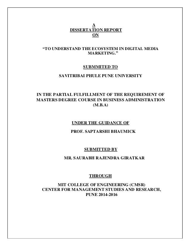 Dissertation Statistical Services 2014