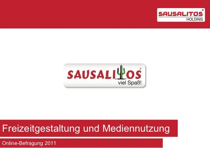 Freizeitgestaltung und MediennutzungOnline-Befragung 2011