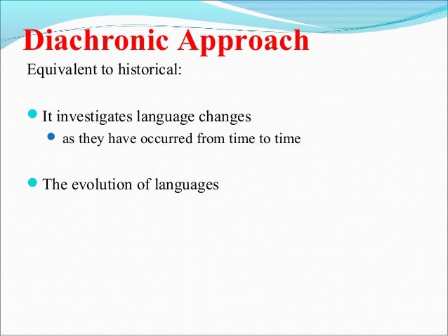 synchronic and diachronic relationship tips