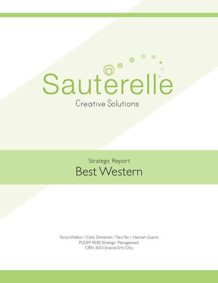 Sauterelle    Creative Solutions                                     Strategic Report  Terica Walton                      ...