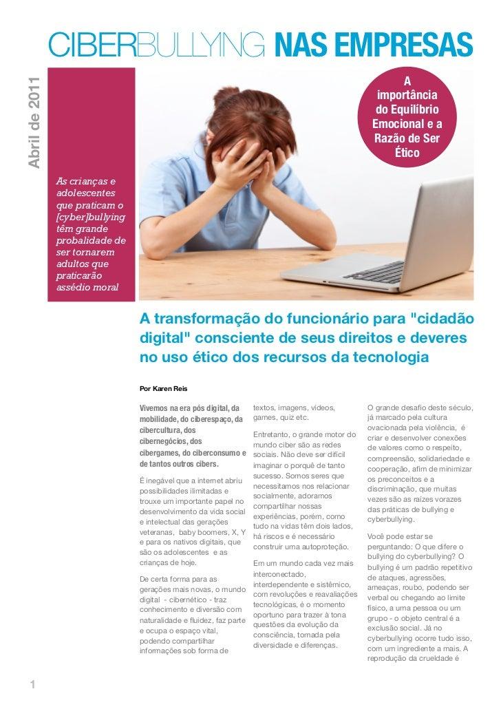 [Cyber]Bullying nas Empresas