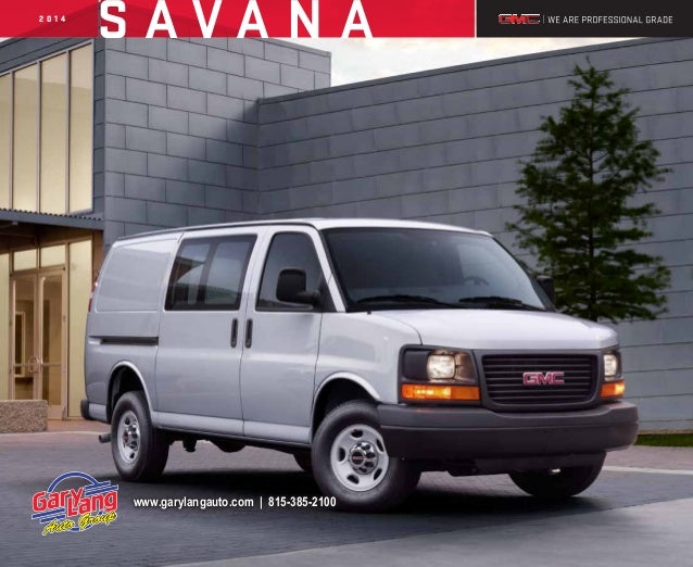 2014 GMC Savana Brochure