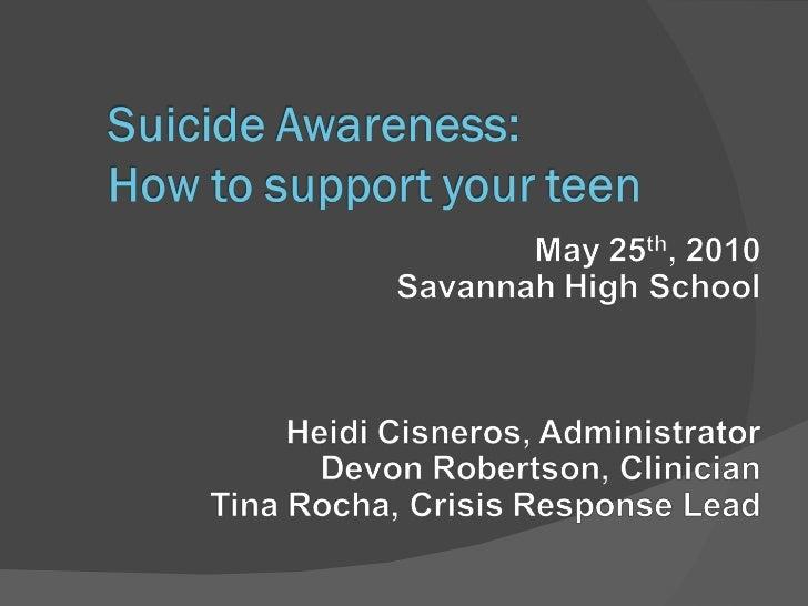 Savannah high school presentation 6 2010