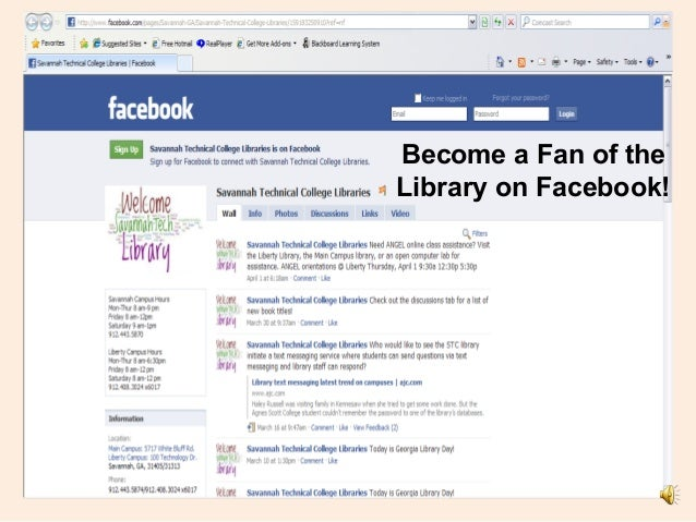 Become a Fan of the Library on Facebook!