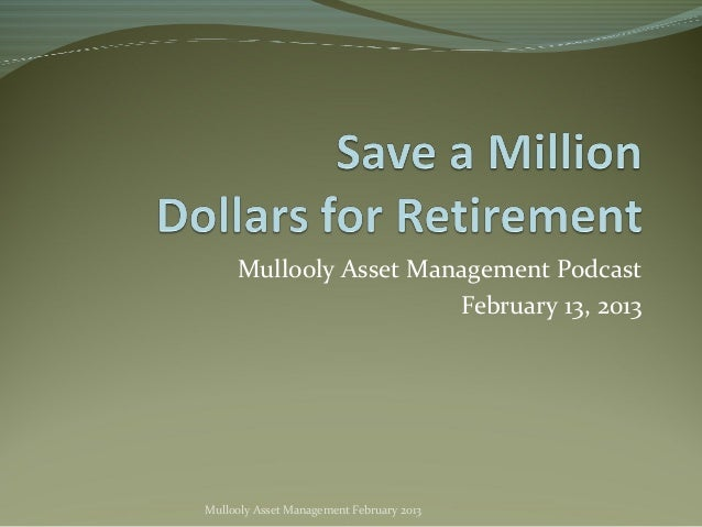 Save a Million Dollars for Retirement