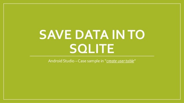 android studio how to create a data file