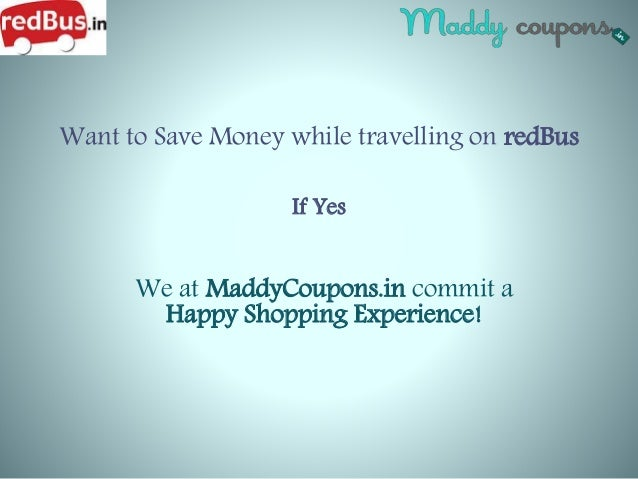 Discount coupons redbus