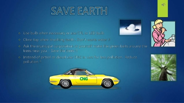 essay on save our mother earth