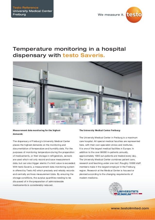 Temperature Monitoring in hospital dispensarys - Testo Saveris