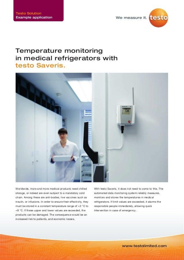 Temperature Monitoring in medical refrigerators - Testo Saveris