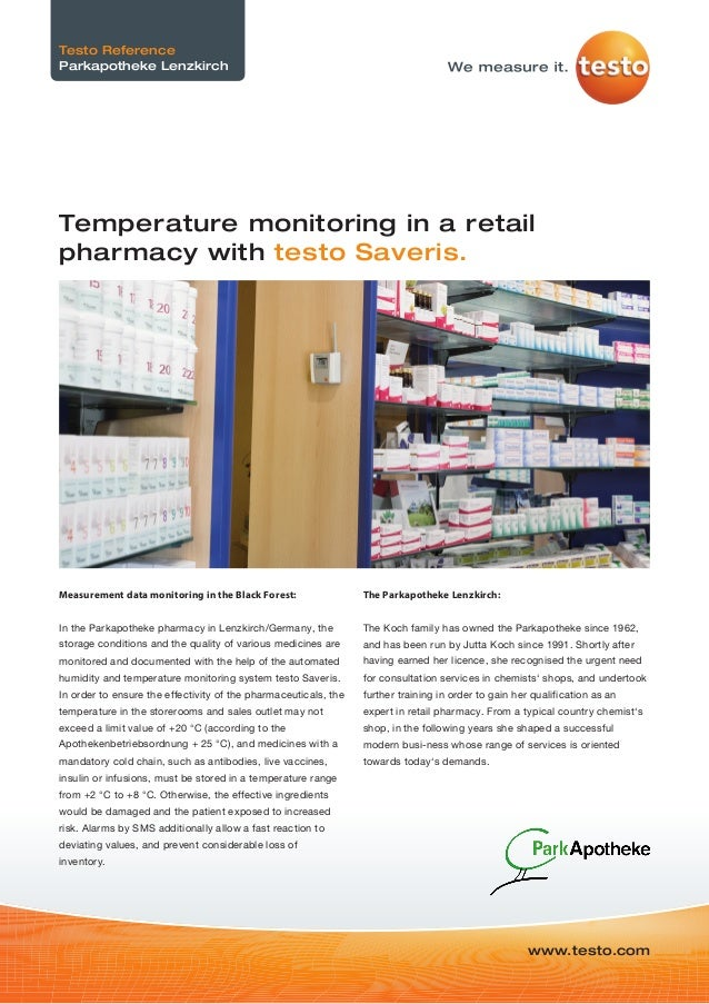 Measurement data monitoring in the Black Forest: In the Parkapotheke pharmacy in Lenzkirch/Germany, the storage conditions...