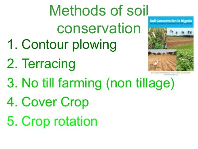 Save soil for Soil conservation act