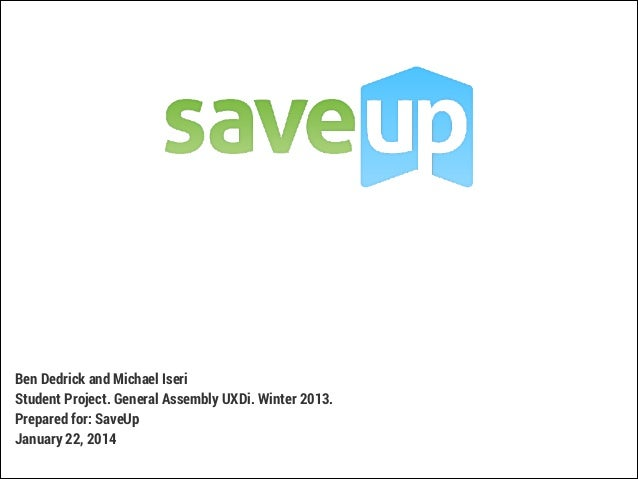 Student Project Presentation for SaveUp