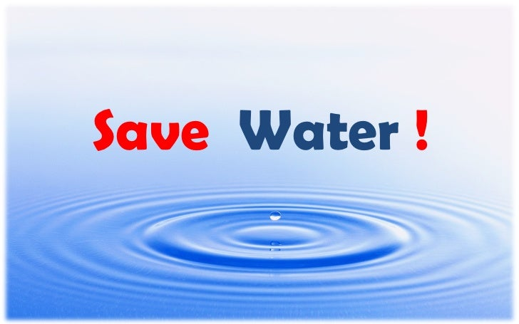 Save Water !