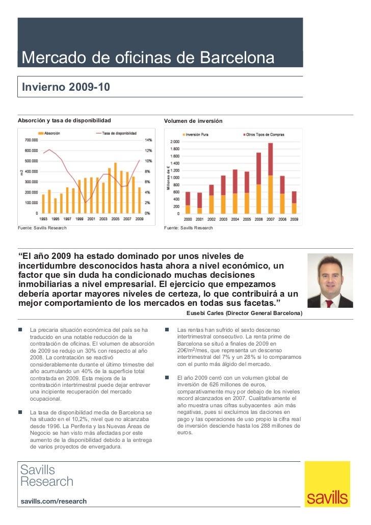 Savills - Informe Mercado Oficinas - Barcelona - Invierno 2009 10