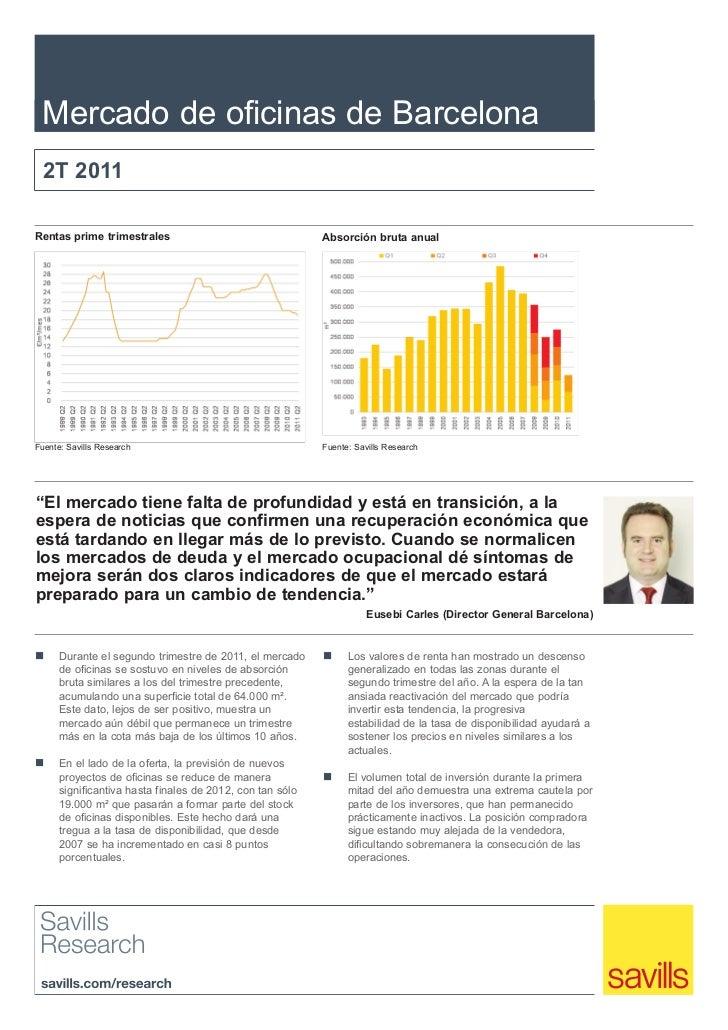 Savills - Informe Mercado Oficinas - Barcelona - Q2 2011