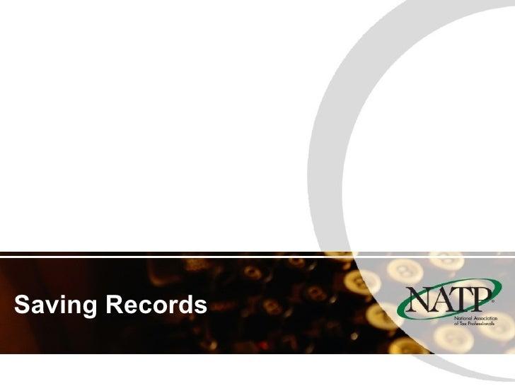 Saving Records