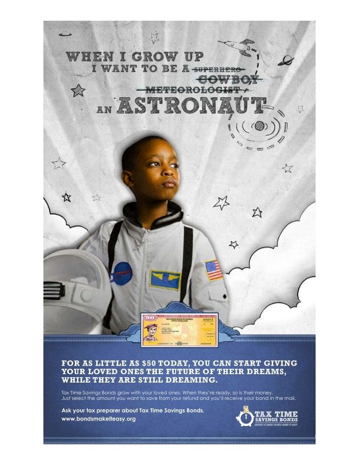 Savings Bond Astronaut Dream Tax Time Poster