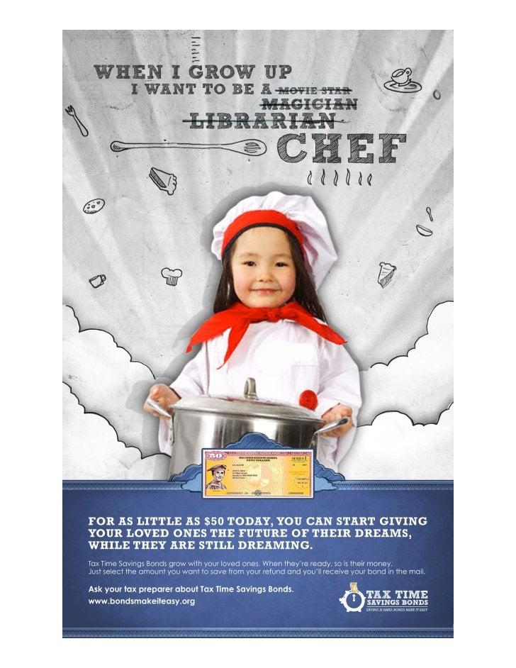 Savings Bond Chef Dream Tax Time Poster