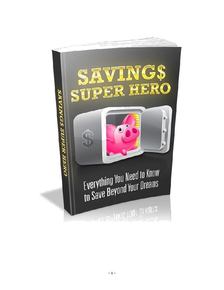 Savings super hero