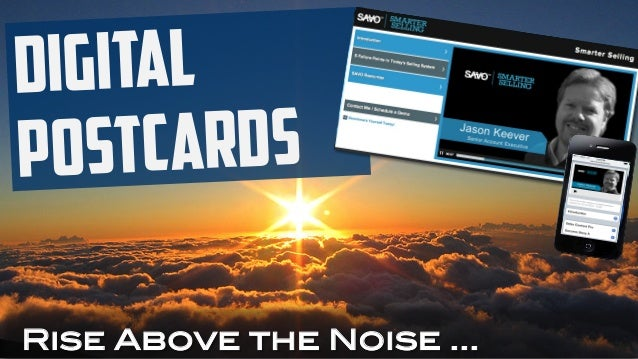 Digital Postcards Rise Above the Noise …
