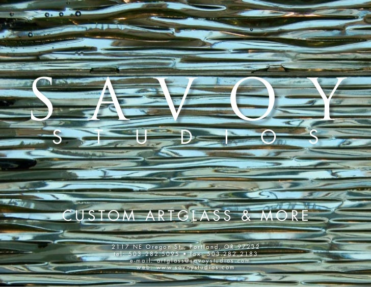 Savoy studios customartglassbook