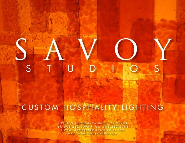 Savoy Studios Custom Hospitality Lighting