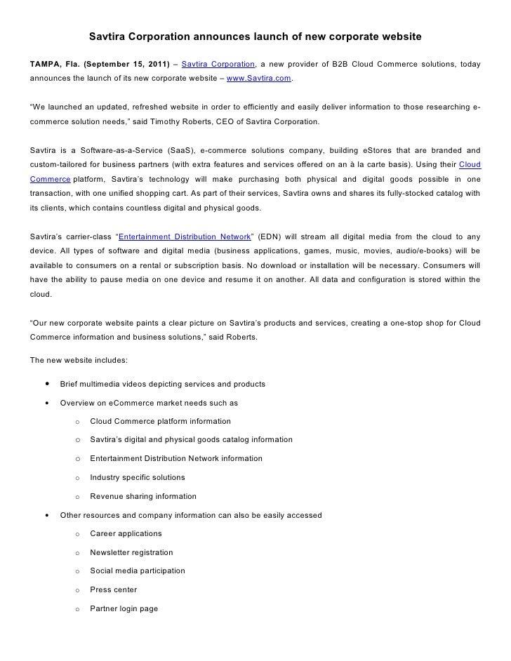 Savtira Launches New Corporate Website