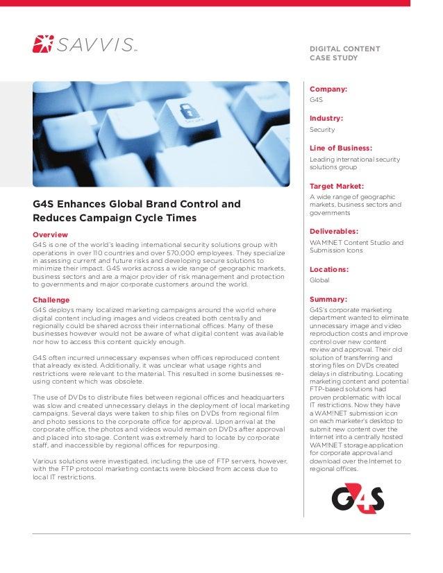 Case study featuring G4S and the Savvis WAM!NET platform
