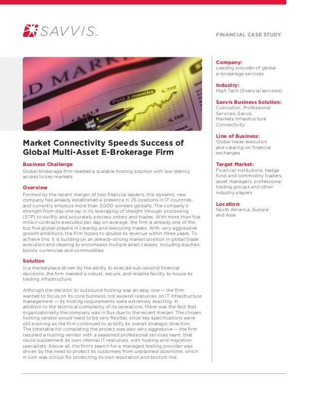 Savvis case study of global brokerage