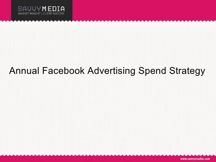 Annual Facebook Advertising Spend Strategy