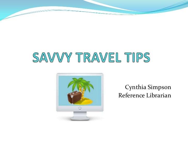 Savvy travel tips 2