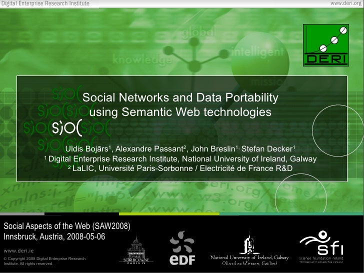 Social Networks and Data Portability using Semantic Web technologies