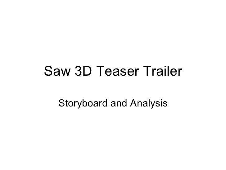 Saw 3d trailer storyboard.