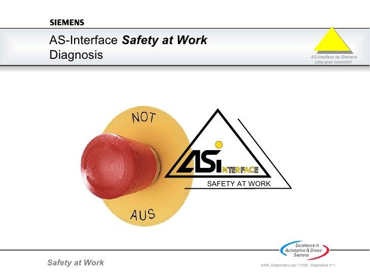 AS-Interface  Safety at Work  Diagnosis SAFETY AT WORK