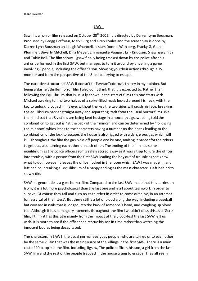 Saw II essay