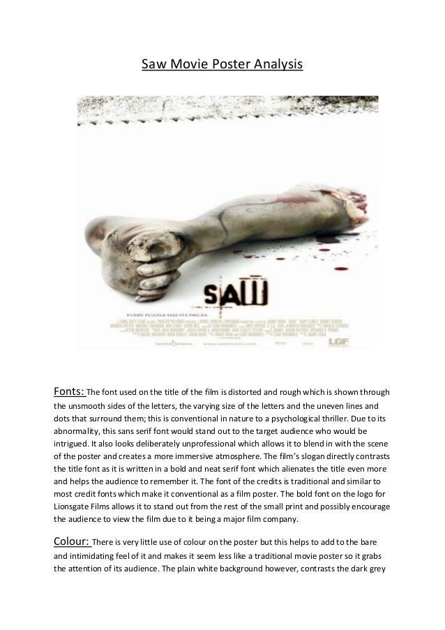 Saw movie poster analysis