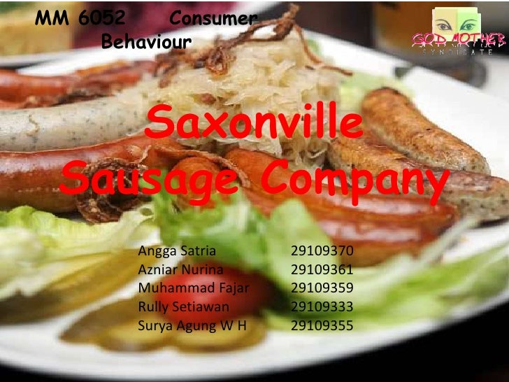 saxonville sausage company case summary Essay on saxonville sausage analysis case study of saxonville sausage company by salvador sausage business plan essay example - 10 executive summary.