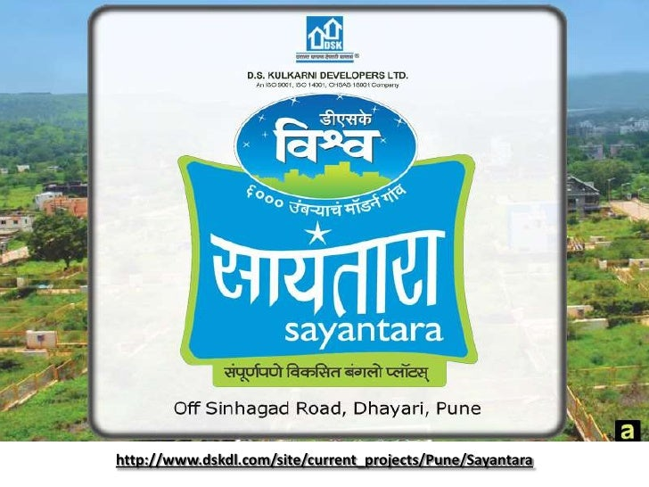 DSK Sayantara Offers fully Developed Bungalow Plots sinhagad road for Sale, Pune.