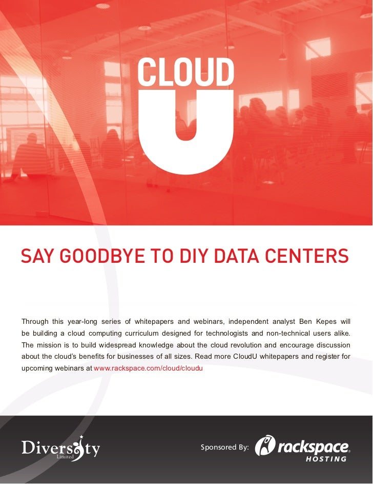 Say Goodbye to DIY Data Centers